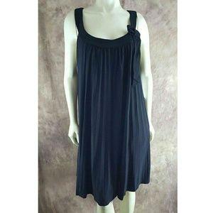Robbie B 22W Sleeveless Pleated Shift Dress